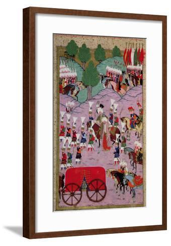 """""""Hunername"""" the Army of Suleyman the Magnificent (1494-1566) Leave for Europe--Framed Art Print"""