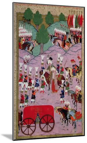 """""""Hunername"""" the Army of Suleyman the Magnificent (1494-1566) Leave for Europe--Mounted Giclee Print"""