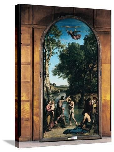 The Baptism of Christ, 1845-47-Jean-Baptiste-Camille Corot-Stretched Canvas Print