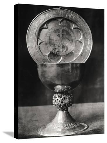 Chalice and Eucharist Plate, Belonging to the Abbot Pelage End 12th Beginning 13th Century--Stretched Canvas Print