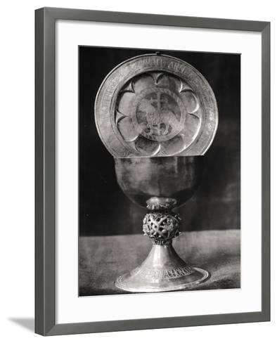 Chalice and Eucharist Plate, Belonging to the Abbot Pelage End 12th Beginning 13th Century--Framed Art Print