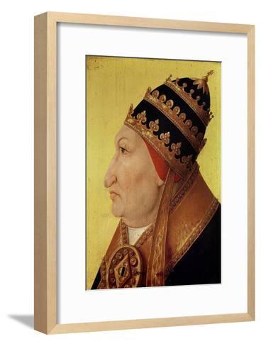 Portrait of Rodrigo Borgia (1431-1503) Pope Alexander VI--Framed Art Print