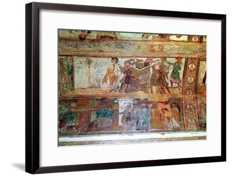 The Construction of the Tower of Babel (Upper Register), the Meeting of Joseph and Potiphar's Wife--Framed Art Print