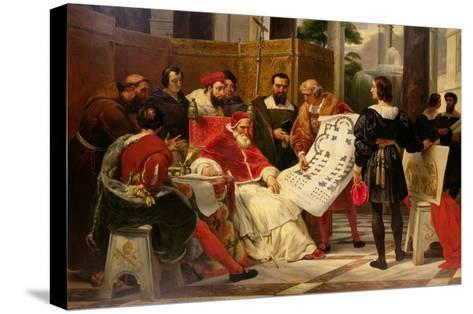 Pope Julius II Ordering Bramante Michelangelo and Raphael to Build the Vatican and St. Peter's 1827-Horace Vernet-Stretched Canvas Print
