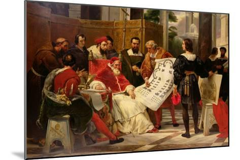 Pope Julius II Ordering Bramante Michelangelo and Raphael to Build the Vatican and St. Peter's 1827-Horace Vernet-Mounted Giclee Print