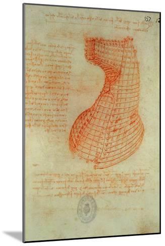 Codex Madrid 1/57-R Study for a Sculpture of a Horse-Leonardo da Vinci-Mounted Giclee Print