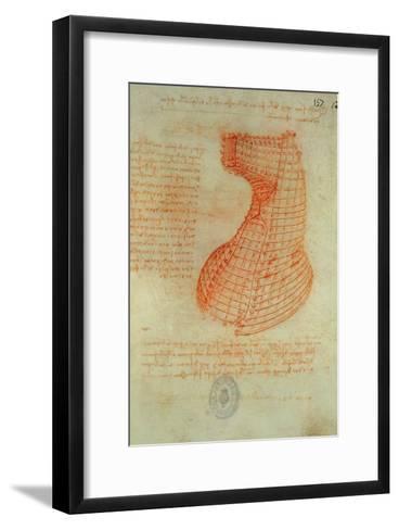 Codex Madrid 1/57-R Study for a Sculpture of a Horse-Leonardo da Vinci-Framed Art Print