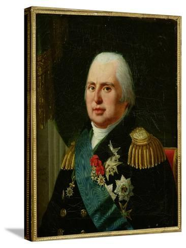 Louis XVIII (1755-1824) after 1815-Robert Lefevre-Stretched Canvas Print