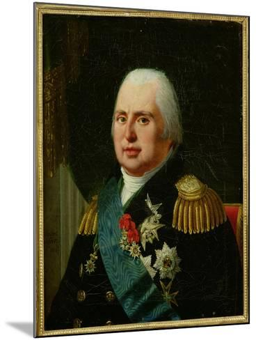Louis XVIII (1755-1824) after 1815-Robert Lefevre-Mounted Giclee Print
