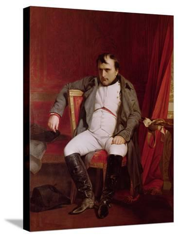 Napoleon (1769-1821) after His Abdication-Hippolyte Delaroche-Stretched Canvas Print