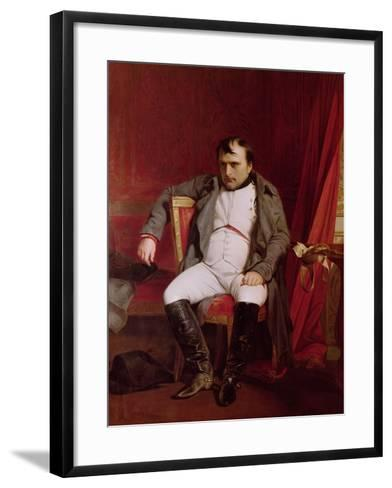 Napoleon (1769-1821) after His Abdication-Hippolyte Delaroche-Framed Art Print