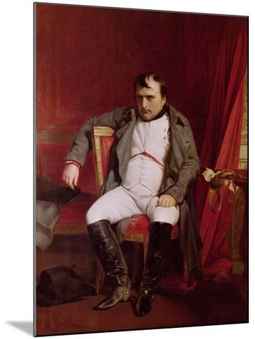 Napoleon (1769-1821) after His Abdication-Hippolyte Delaroche-Mounted Giclee Print