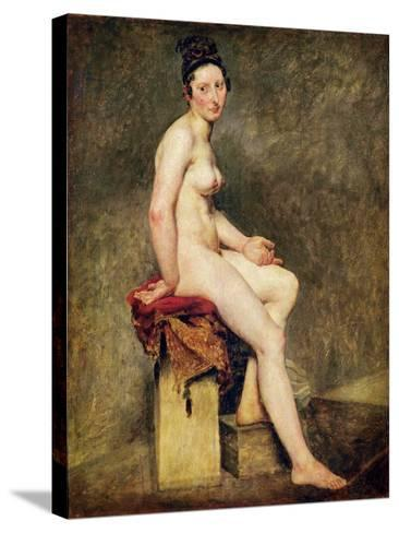 Seated Nude, Mademoiselle Rose-Eugene Delacroix-Stretched Canvas Print