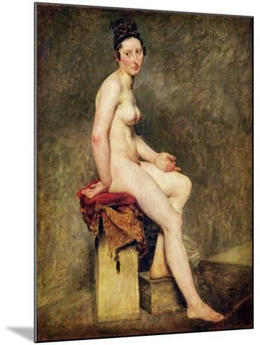 Seated Nude, Mademoiselle Rose-Eugene Delacroix-Mounted Giclee Print