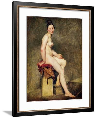Seated Nude, Mademoiselle Rose-Eugene Delacroix-Framed Art Print