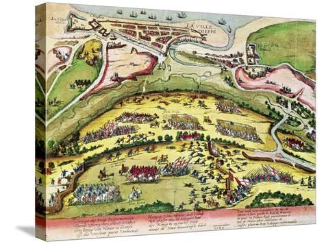 The Siege of Dieppe in 1589, 1589-92-Franz Hogenberg-Stretched Canvas Print
