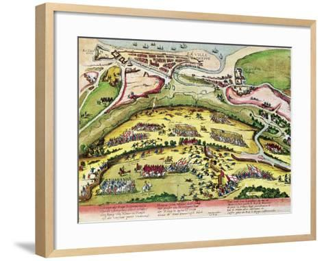 The Siege of Dieppe in 1589, 1589-92-Franz Hogenberg-Framed Art Print