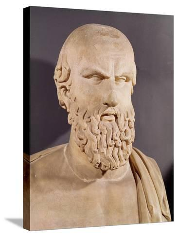 Bust of Aeschylus (circa 525-circa 456 BC)--Stretched Canvas Print