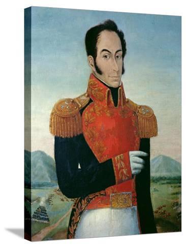 Simon Bolivar (1783-1830)-Arturo Michelena-Stretched Canvas Print