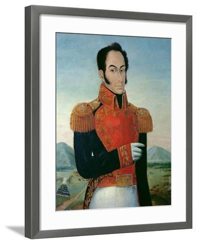 Simon Bolivar (1783-1830)-Arturo Michelena-Framed Art Print