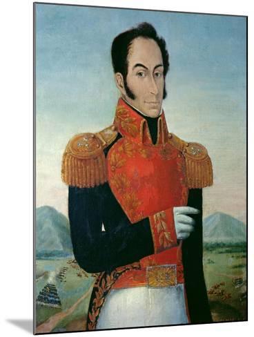 Simon Bolivar (1783-1830)-Arturo Michelena-Mounted Giclee Print