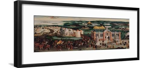 Meeting at the Field of the Cloth of Gold, 7th June 1520 after Hans Holbein the Elder (1460/5-1524)-Friedrich Bouterwek-Framed Art Print