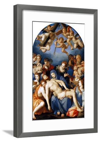 Deposition from the Cross, 1543-45-Agnolo Bronzino-Framed Art Print