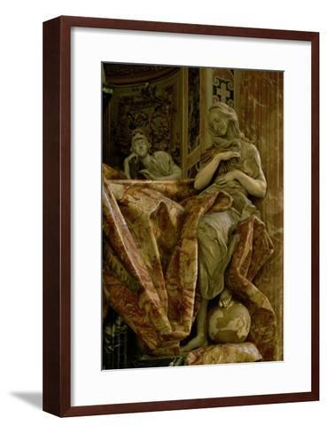 Truth from the Monument to Alexander VII in the North Transept, 1672-78 (Marble and Gilded Bronze)-Giovanni Lorenzo Bernini-Framed Art Print