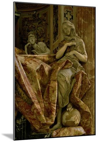 Truth from the Monument to Alexander VII in the North Transept, 1672-78 (Marble and Gilded Bronze)-Giovanni Lorenzo Bernini-Mounted Giclee Print