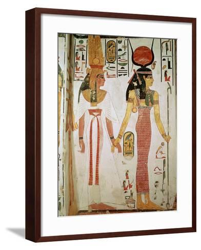 Isis and Nefertari, from the Tomb of Nefertari, New Kingdom (Mural)--Framed Art Print