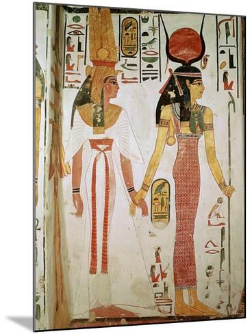 Isis and Nefertari, from the Tomb of Nefertari, New Kingdom (Mural)--Mounted Giclee Print