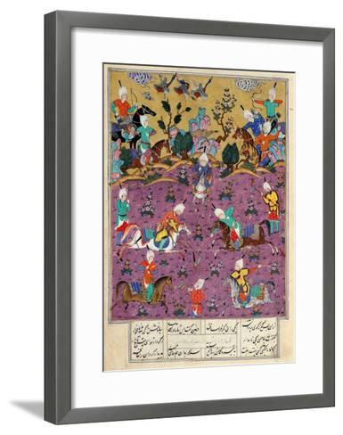 """Siavosh Playing Polo with Afrasiab, from """"Firdawsi's Shahnama""""--Framed Art Print"""