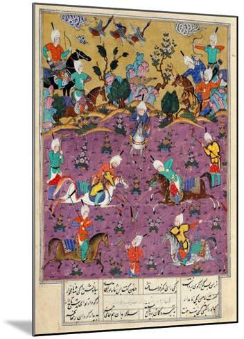 """Siavosh Playing Polo with Afrasiab, from """"Firdawsi's Shahnama""""--Mounted Giclee Print"""
