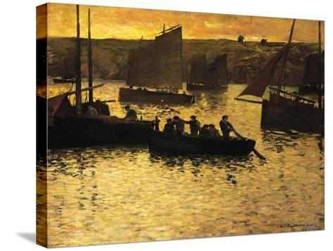 In the Port, 1895-Charles Cottet-Stretched Canvas Print