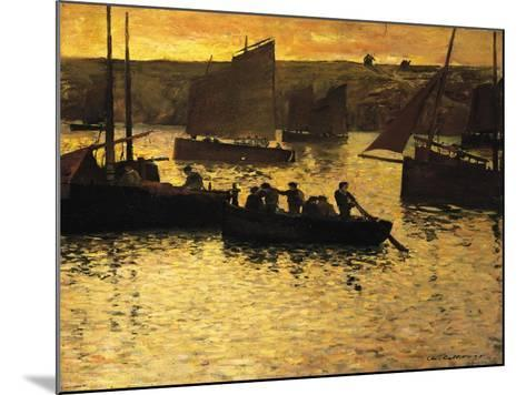 In the Port, 1895-Charles Cottet-Mounted Giclee Print