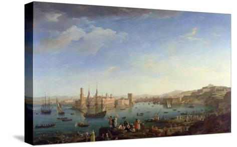 The Entrance to the Port of Marseilles, 1754-Claude Joseph Vernet-Stretched Canvas Print