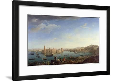 The Entrance to the Port of Marseilles, 1754-Claude Joseph Vernet-Framed Art Print