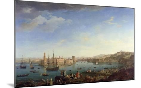 The Entrance to the Port of Marseilles, 1754-Claude Joseph Vernet-Mounted Giclee Print