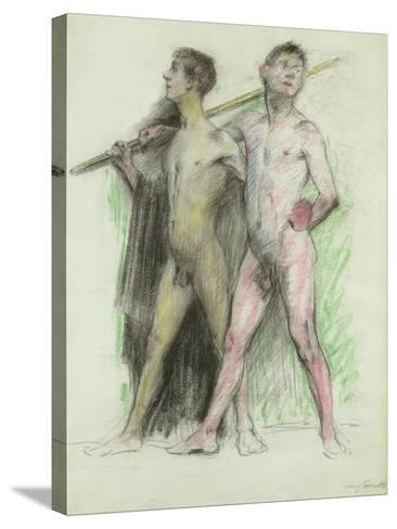 Study of Two Male Figures-Lovis Corinth-Stretched Canvas Print