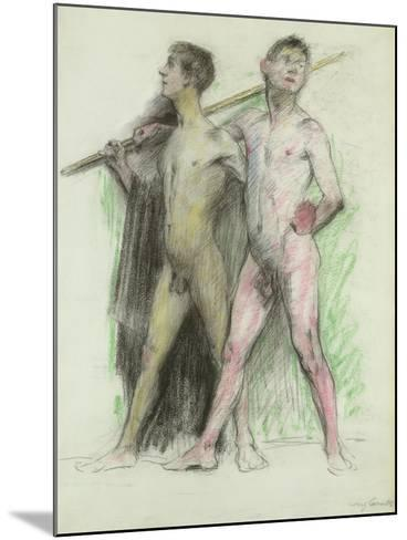Study of Two Male Figures-Lovis Corinth-Mounted Giclee Print