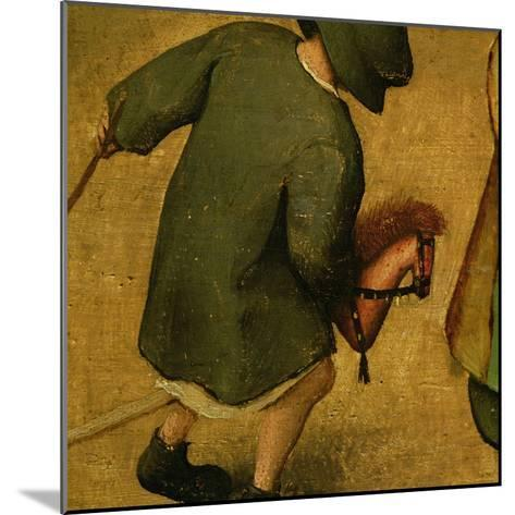 Children's Games, Detail of Bottom Section Showing a Child and a Hobby-Horse, 1560-Pieter Bruegel the Elder-Mounted Giclee Print