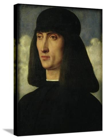 Portrait of a Young Man, circa 1500-Giovanni Bellini-Stretched Canvas Print