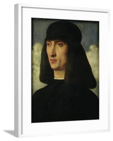 Portrait of a Young Man, circa 1500-Giovanni Bellini-Framed Art Print