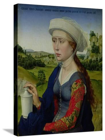 Mary Magdalene, from the Right Hand Panel of Triptych of the Braque Family-Rogier van der Weyden-Stretched Canvas Print