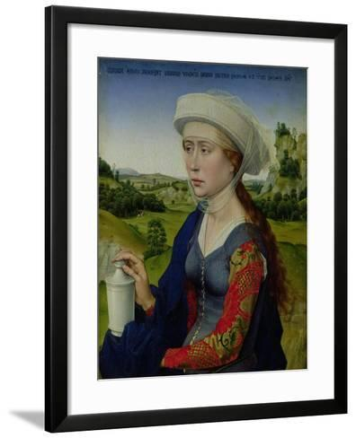 Mary Magdalene, from the Right Hand Panel of Triptych of the Braque Family-Rogier van der Weyden-Framed Art Print