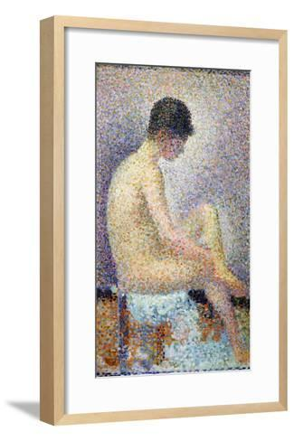 Model in Profile, 1886-Georges Seurat-Framed Art Print