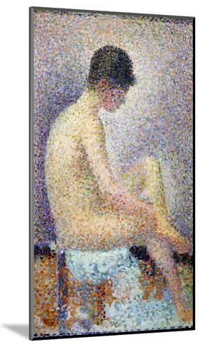 Model in Profile, 1886-Georges Seurat-Mounted Giclee Print