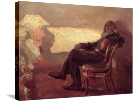 Lev Nikolaevich Tolstoy (1828-1910) 1901-Leonid Osipovic Pasternak-Stretched Canvas Print