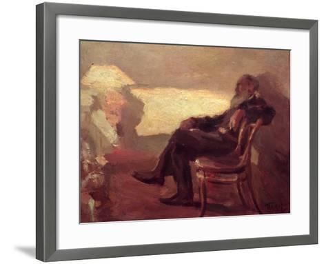 Lev Nikolaevich Tolstoy (1828-1910) 1901-Leonid Osipovic Pasternak-Framed Art Print