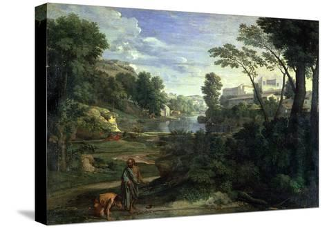 Landscape with Diogenes, 1648-Nicolas Poussin-Stretched Canvas Print